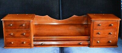 Antique Victorian  Mahogany  veneredTable Top Drawer Set