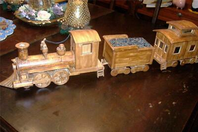 Ooak-Very Detailed Handcrafted By-Inmate*Train Set*Popsicles*Secret Drawers-33.5