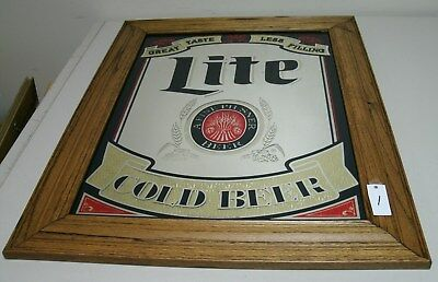 """Miller Lite Cold Beer Beer Mirror 23"""" x 29"""" You are buying 1"""