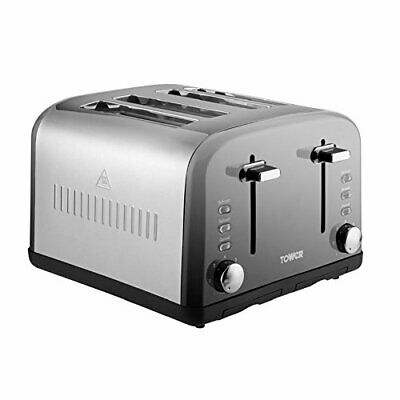 4-Slice Toaster Tower T20015 Infinity - Stainless Steel - Silver