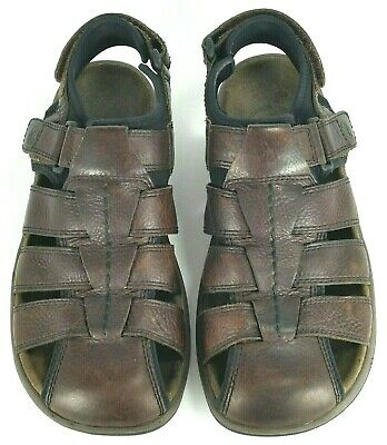 46d23915667b Merrell Montana Mens Brown Leather Fisherman Sandals Size 11M Casual Sport  Shoe