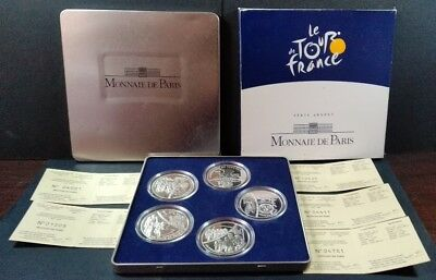 Coffret 1 1/2 EURO 2003 TOUR DE FRANCE (Argent BE / Proof Silver) MdP 5pcs