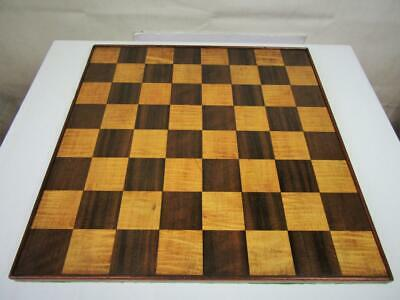 ANTIQUE OR VINTAGE LARGE CHESS BOARD ENGLISH  41 cm SQUARES OF 50 mm NO PIECES