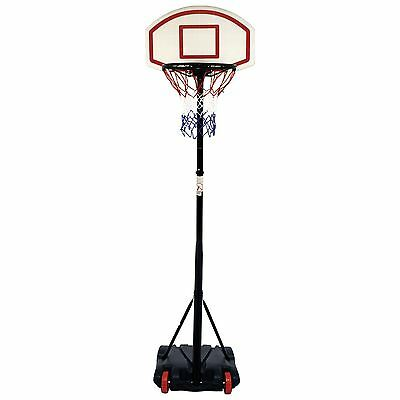 Freestanding Adjustable Portable Basketball Net Hoop Backboard Stand Set Wheels