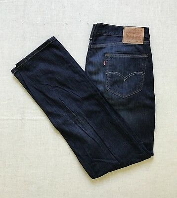 New Mens Levis 514 Dark Blue Straight Regular Fit Denim Jeans
