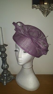 Heather /Lilac /lavender fascinator / Hatinator wedding/races/special occasions