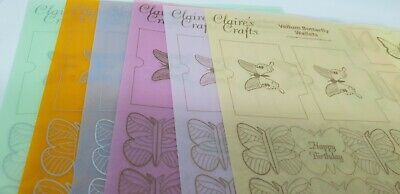 Claire's Crafts VELLUM Butterflies and Butterfly Wallets Making Kit (12 Sheets)