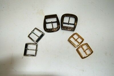 Mixed Lot 6 Vintage Antique Belt Buckles Metal Brass For Leather Work
