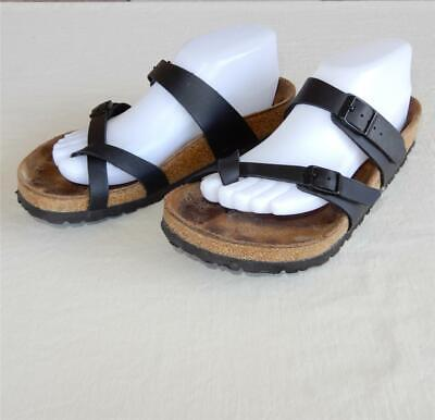 48d196eab BIRKENSTOCK WOMEN S MAYARI Black Leather Toe Loop Sandals 39 ...