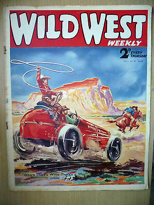 1938 Wild West Weekly:Featuring Sonny Taylor in Cowboy Stories Issue No 23,V.1