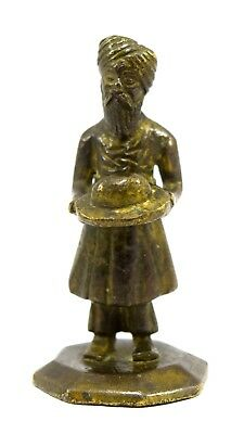 Old Antique Brass Religious Sikh Men Figure Collectible & Decorative. G7-907 US