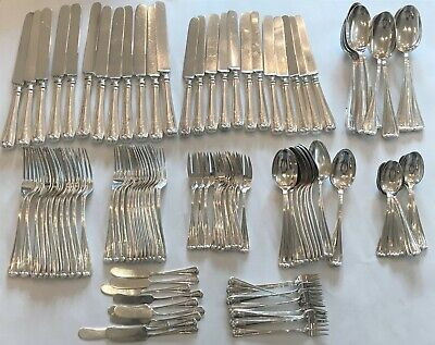 Sterling Silver Flatware Service. Durgin New Standish Pattern (1905). 116 pcs