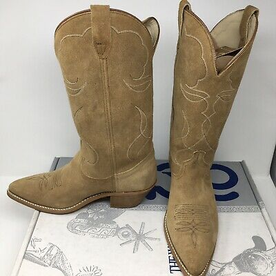 f9e00a523ca03 Acme Boots Roughout Cowboy 8 With Original Box   Boot Pullers