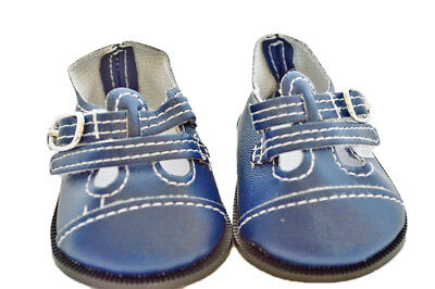 Blue Buckle Doll Shoes Fits 18 Inch American Girl Doll Clothes