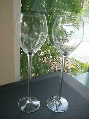 "2 extra Large  REALLY TALL 12"" - 16 Oz Wine Goblets Champagne Stems Glasses"