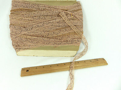 Trim Nude Color Vintage Condition 121 Yds Pieces 1950s Rare Net Embroidery Lace