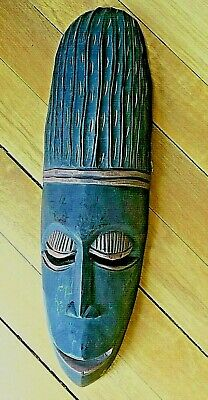 Vintage PUNU Wood Mask from Gabon