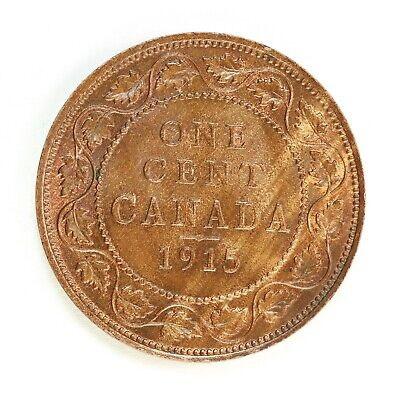 Raw 1915 Canada 1C Uncertified Ungraded Copper Canadian Large Cent Coin