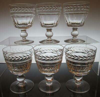 "Set of Six (6) Stuart Crystal ""ARUNDEL""  Wine Glasses 4 3/16"" (108mm) Signed"