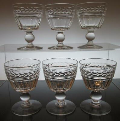 "Set of Six (6) Stuart Crystal ""ARUNDEL""  Port Wine Glasses 3 1/2"" (90mm) Signed"
