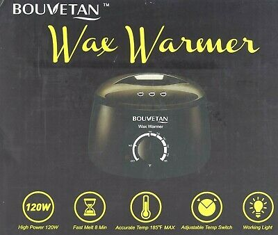 Wax Warmer - Bouvetan Waxing Hair Removal Kit with Hard Wax Beans 14.1oz K-23