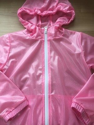 Next Girls Lovely Pink Rain Mac Jacket Coat 7 Years Vgc Hardly Worn