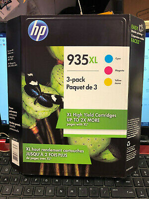 EXP 2020 New HP 935 XL 3 Pack High Yield Cyan, Magenta, Yellow 897135 Sealed