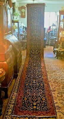 Large Fine Quality Genuine Antique Large Wool Hand knotted Persian Rug Runner