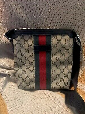 a1aa78c63c4d3 GUCCI MEN S NIGHT COURRIER GG MESSENGER CROSSBODY BAG Italy- 699 ...