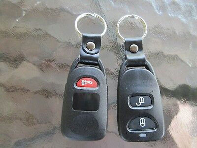 (2) Car Key Fob Remote 3 button Lock Unlock Panic Case Keyless Entry Keychain