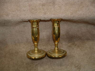 Old Rare Solid Brass Set Of Antique Candle Holders