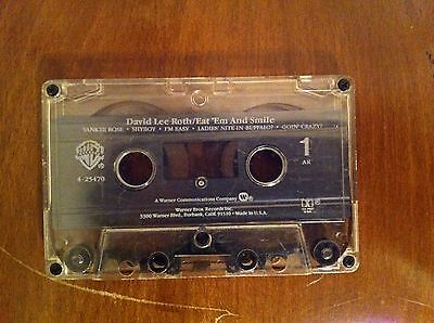David Lee Roth Eat 'Em And Smile Cassette Tape Steve Vai Van Halen Billy Sheehan