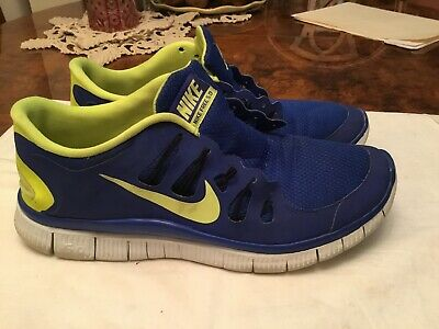 5b7b1d7c84779 NIKE FREE 5.0 Mens Running Shoes Size 11.5 Blue Flash Green -  24.55 ...