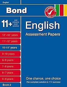 Bond English Assessment Papers 10-11+ Years Book... | Book | condition very good