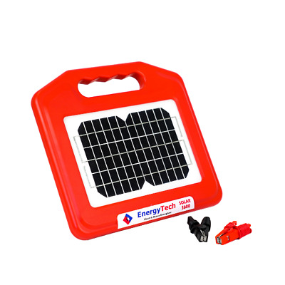 15KM Electric Fence SOLAR Energiser With 240/12V Battery Charger & USB Chaeger