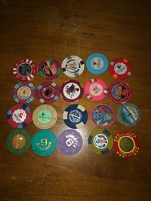 (20) harrahs,illegal harveys roulette obsolete lake tahoe reno casino chip lot