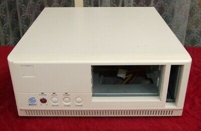 Vintage Desktop AT computer case from the 1990s for 286 386 486 early Pentium