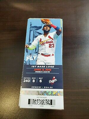 St. Louis Cardinals Los Angeles Dodgers MINT Season Ticket 4/8/19 2019 MLB Stub