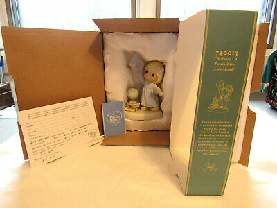 "RARE 2007 Precious Moments Figurine ""A WORLD OF POSSIBILITIES LIES AHEAD"""