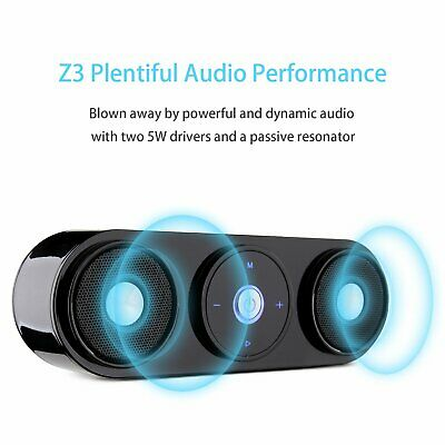 Bluetooth Speakers, ZENBRE Z3 10W Portable Wireless Speakers with 20h Playtime