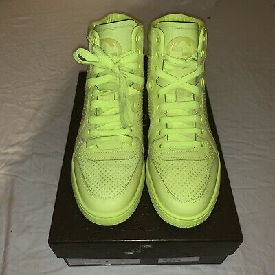 ae498f6eefe Gucci Womens Neon Yellow Sneakers 323812 38.5 8 Hi Tops  640MSRP. AUTHENTIC