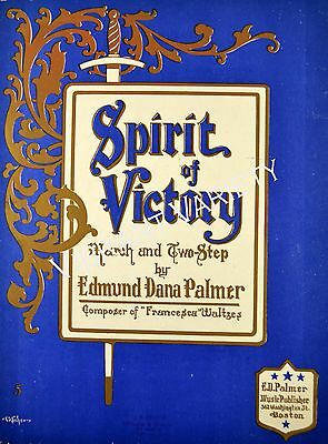Spirit Of Victory Art By ES Fisher 1908 sheet music
