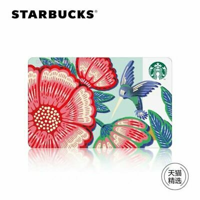 2019 Starbucks China Spring Flower And Bird Gift Card Pin Intact