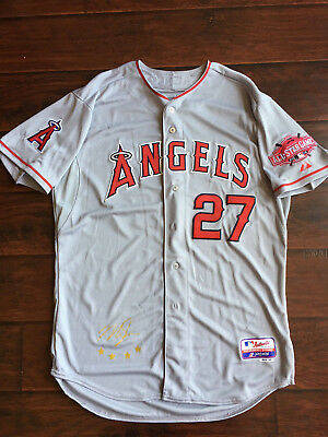 0a1c06a9148 Mike Trout 2015 Angels Authentic All Star Jersey Majestic 48 XL NWT Rare MVP