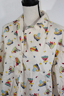 Women's Eloise Anthropologie Southwest Fiesta Pajama Top Sz Medium Eloise