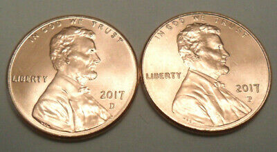 2017 P & D Lincoln Shield Cent / Penny Set  *BU - UNCIRCULATED*  *FREE SHIPPING*