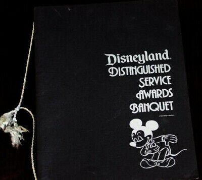 Disneyland 1978 Service Awards Banquet Program Walt Disney Execs Ron Dominguez
