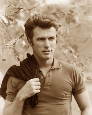 Clint Eastwood Actor Hollywood Movie Star Sepia Photo
