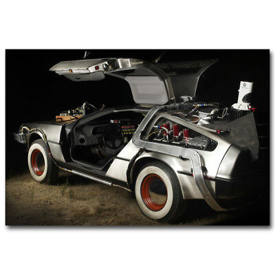 Back To The Future Car Classic Movie Silk Poster Art Canvas Print 12x18 24x36