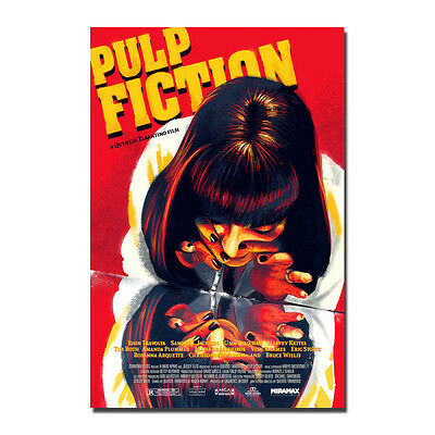 Pulp Fiction Hot Movie Art Silk Canvas Poster 12x18 32x48 inch